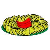 Nachos (microplaquetas de tortilha) Série de alimento e bebida e ingredientes para cozinhar Fotografia de Stock Royalty Free