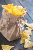 Nachos in the paper bag Stock Image