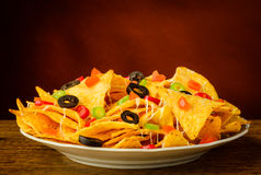 Nachos on a plate Stock Image