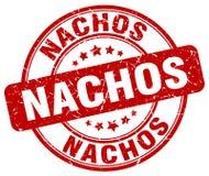 Nachos red grunge round rubber stamp. Nachos red grunge round vintage rubber stamp Royalty Free Stock Photography