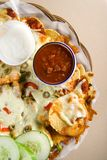 Nachos and salsa Stock Image