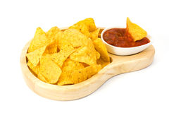 Nachos and salsa Royalty Free Stock Photo