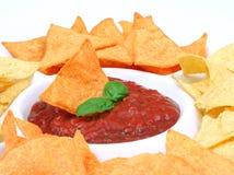 nachos salsa Zdjęcie Royalty Free