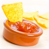 Nachos and salsa Stock Photography