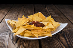 Nachos (with Salsa Dip) Stock Image