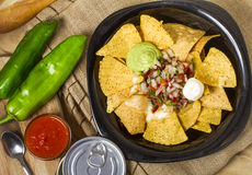 Nachos and souce Royalty Free Stock Image