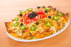 Nachos on table wood Royalty Free Stock Photo