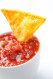 Nachos and tomato dip Stock Image