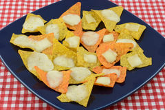 Nachos with tortilla chips and cheese Royalty Free Stock Photos