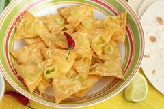 Nachos and tortillas Royalty Free Stock Images