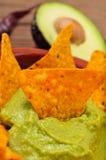 Nachos und Guacamole Lizenzfreies Stockfoto