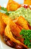 Nachos vegetarianos Fotos de archivo