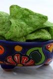 Nachos verdes mexicanos deliciosos fotografia de stock royalty free