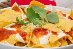 Nachos - virutas de tortilla Imagenes de archivo