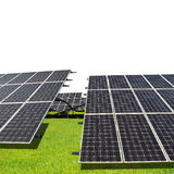 Nachricht der Sonnenenergie panels Lizenzfreies Stockfoto