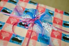 Nachricht des Geschenks Bow Lizenzfreies Stockfoto