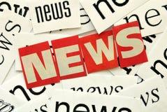 Nachrichten Lizenzfreies Stockbild