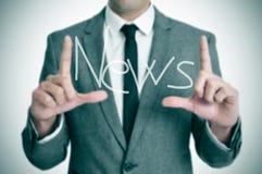 Nachrichten lizenzfreie stockfotografie