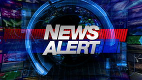 Nachrichten-Alarm - Sendungs-Grafik-Titel vektor abbildung