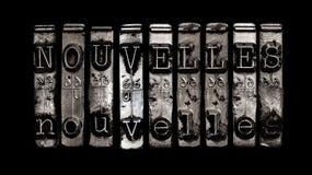 Nachrichten auf französisch Lizenzfreie Stockbilder