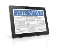 Nachrichten auf Illustration der Tablette 3d stock abbildung