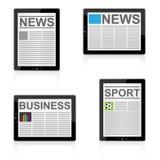 Nachrichten auf Tablette Lizenzfreies Stockfoto