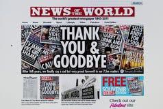 Nachrichten der Weltweb site Lizenzfreies Stockbild