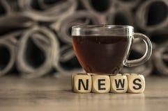 Nachrichten des gutenmorgens Lizenzfreie Stockfotos