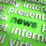 Nachrichten fassen das Zeigen von von Media-Journalismus und Informationen ab Lizenzfreies Stockbild