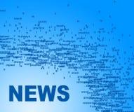 Nachrichten fassen Durchschnitte Media Player und Informationen ab stock abbildung