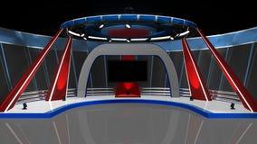 Nachrichten Fernsehstudio stock abbildung