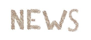 Nachrichten geschrieben mit kleinen Würfeln Lizenzfreies Stockbild