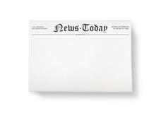 Nachrichten heute mit Leerzeichen stockfotografie