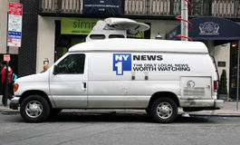 Nachrichten NY1 Fahrzeug Lizenzfreies Stockfoto