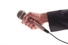 Nachrichten-Reporter-Hand stockbilder