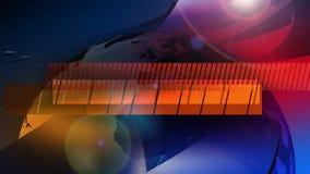 Nachrichten - Sendungs-Grafik-Animation lizenzfreie abbildung