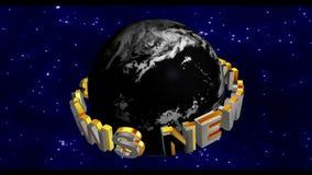 Nachrichten - Sendungs-Grafik-Titel stock video