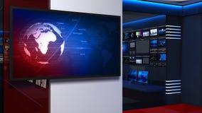 Nachrichten studio_054 stock footage