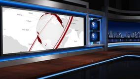Nachrichten studio_055 stock footage