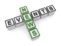 Nachrichten und Ereignisse stock abbildung