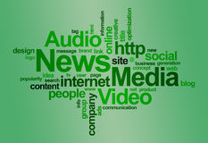 Nachrichten und Media â fassen Wolke ab Stockbild