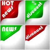 Nachrichten und Rabatte Stockfotos