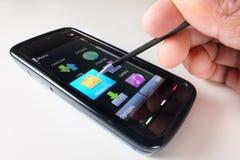 Nachrichtenübermittlung sms Stockbild