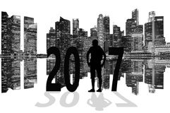 Nachrichtenjahrhintergrund 2017 Lizenzfreie Stockfotos