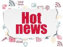 Nachrichtenkonzept: Aktuelle Nachrichten auf heftigem Papierhintergrund lizenzfreie abbildung