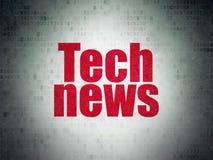 Nachrichtenkonzept: Technologie-Nachrichten auf Digital-Daten-Papierhintergrund lizenzfreie abbildung