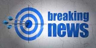 Nachrichtenkonzept: Ziel und letzte Nachrichten auf Wand vektor abbildung