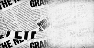 Nachrichtenpapiertext lizenzfreies stockfoto