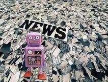Nachrichtenroboterreporter Lizenzfreies Stockbild