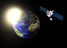 Nachrichtensatellit Lizenzfreie Stockfotos